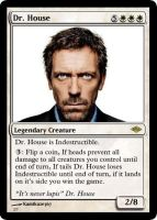 Dr. House magic card by Kamikaze367