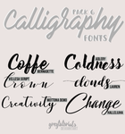 Pack 6 Calligraphy Fonts - Gregtutorials by GregTutorials