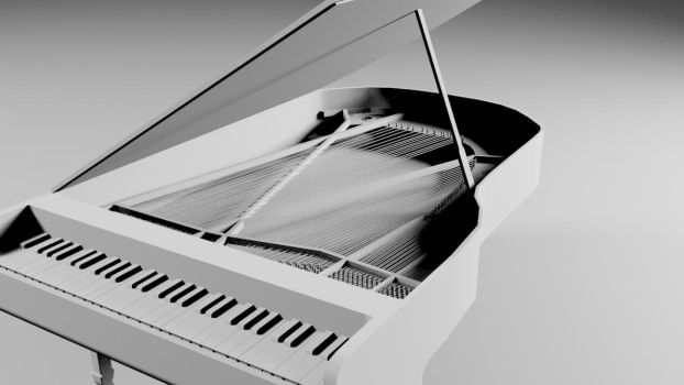 Piano with strings by themikester86