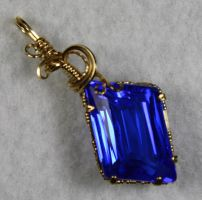 Cornflower Blue Pendant by skezzcrom