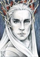 ACEO 107  Thranduil / The Hobbit by WojikHell