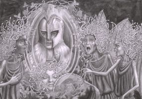 Pallas Athene and the Furies by CaroleHumphreys