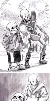 commission- meet the skelebros by paurachan