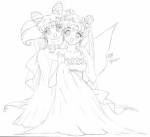 Small Lady And Queen Serenity by usagisailormoon20