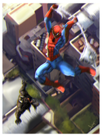 Spiderman vs Venom fan art by victter-le-fou