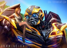 TFAOE: Bumblebee and his girlfriend - COMMISSION by ERA-7S