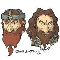 Faces of Middle-Earth: Gimli and Thorin by haunter27