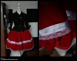 +__ WIP: Sweet lolita skirt by Macabreskiss