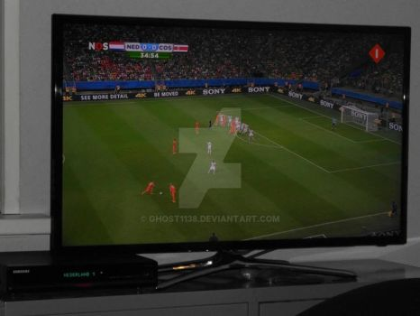 Watching soccer :P by Ghost1138