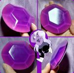 COMMISSION:  Amethyst's breast Gem by LayzeMichelle