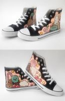 Sweet custom shoes by Gohush