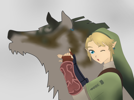 Link TP and wolf Link by NaruMikuLink99