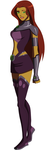 Young Justice Starfire 2 by AMTModollas