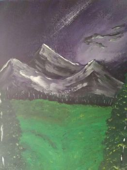 mountain valley painting by jamesholbert