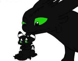 .-Toothless and Erika-. by IloveTMNT2299