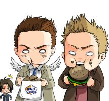 Supernatural - Burgers by Youko-Shirokiba