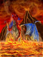 Playing in Lava by Tsitra360