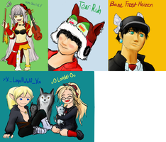 GaiaOnline: Guildies' Holiday Art by LimitlessDepths