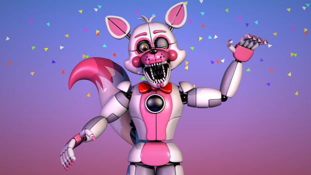 Funtime Foxy V5 Poster - [FNaF SL Blender] by ChuizaProductions
