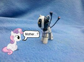 My Little Pony custom blindbag: GlaDos from Portal by vulpinedesigns