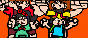 Group Pic With Wreck-It Ralph And Vanellope by EpCoreTheAlmighty
