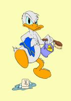 Donald going to bath by ToGrieve