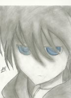 Black Rock Shooter Pencil Drawing (Finished) by 717thartist