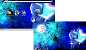 FiM: Luna Google Chrome Theme (Plus Wallpaper) by M24Designs