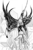 Spider-Man - Batman commission by RedShoulder