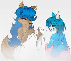 Carmelita and Krystal by Inspectornills