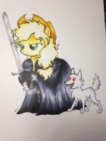 Applejon Snow and Ghostnona by CatScratchPaper