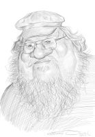 GEORGE RR MARTIN, SKETCH by JaumeCullell