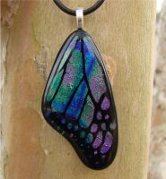 Spectrum Fused Glass Wing by FusedElegance