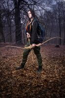 Katniss Everdeen-The Hunger Games cosplay by kanamecosplay