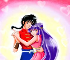 Ranma and Shampoo_Request by ranmaonehalf