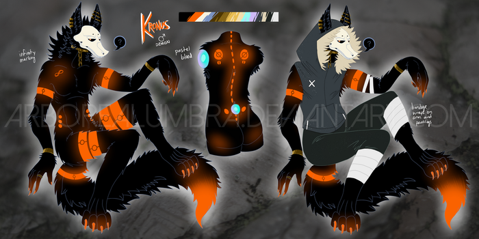 Kronus (Character design for Mortoboe!) by ArborealUmbra