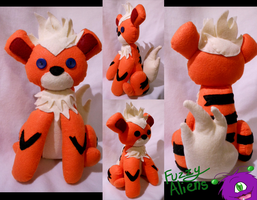 Growlithe Pokemon Plush -For Sale- by FuzzyAliens