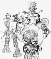 Mars Attacks stipple by choffman36