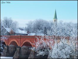 Bridge in Kuldiga - Winter II by gatis-vilaks