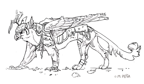 Beat Up Warrior Griffin by Reptangle