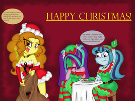 Dazzlings,HAPPY CHRISTMAS! by thegreatcat14