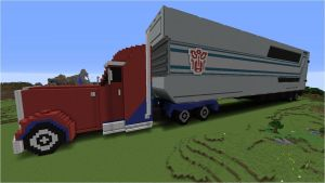 Transformers: Prime Optimus - Built in Minecraft by NumairSalmalin