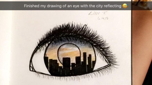 The eye with the city  by Exoryx