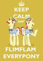 Keep Calm Flim Flam Brothers by Brandatello