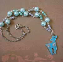 TLDR Teal Deer Necklace by Z0mbieCandy