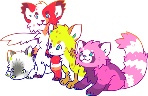 4 Beasts by Pand-ASS