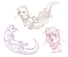 Otter Practice by Fayven