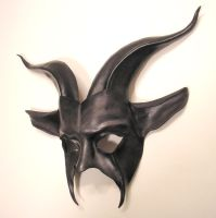 Goat Mask Leather Grey Black by teonova