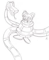 Kaa and Relic the Pika Sketch by lol20