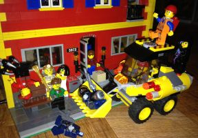 The LEGO Movie - Action Bulldozer in Action by Andrewnuva199